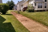 Open French drain during